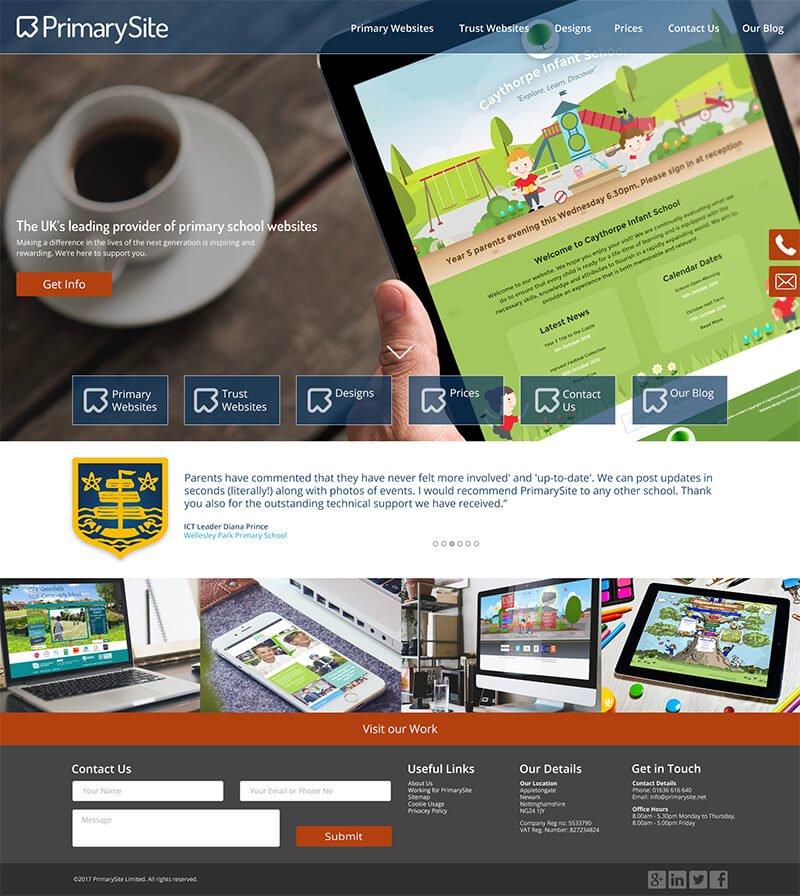 Homepage initial design