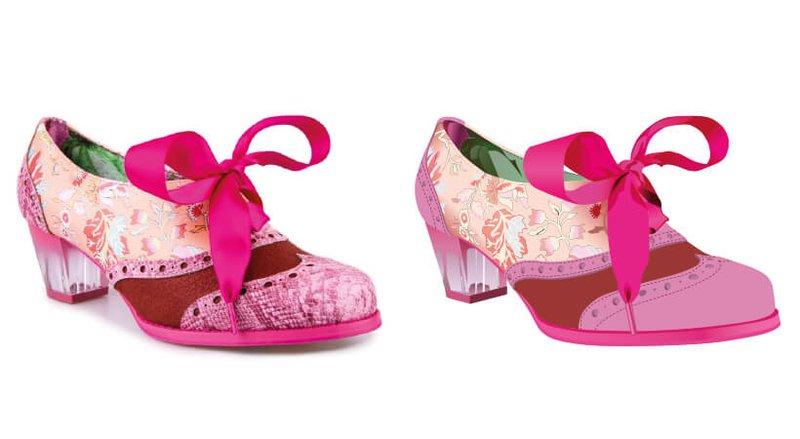 Shoe side by side